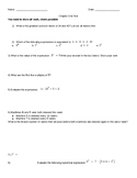 Factors, Multiples & Exponents Test
