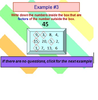 Factors Multiples FREE PowerPoint PREVIEW Lesson
