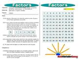 Factors:  Multiples, Factors, Composites and Primes Game