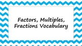 Factors, Multiples, Fraction Posters for Common Core