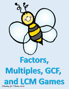 Factors, Multiples, GCF, and LCM Games
