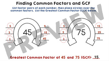 Factors, Multiples, GCF and LCM - Google Slides Activity (No Prep!)