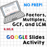 Factors, Multiples, GCF and LCM - Google Slides Activity (