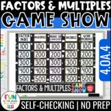 Factors & Multiples Game Show | 4th Grade 4.OA.4 | Distanc