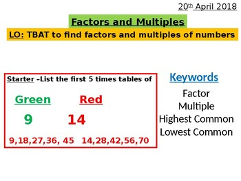 Factors, Multiples, HCF, and LCM Complete Lesson