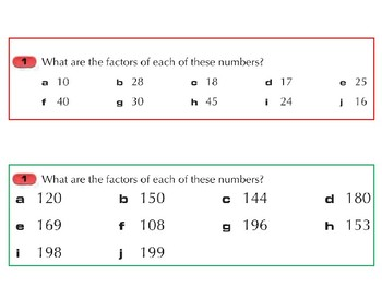 Factors, Multiples, Highest Common Factors and Lowest Common Multiples