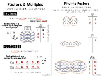 Factors & Multiples Interactive Notebook and Activities