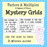 Factors and Multiples Mystery Grids!