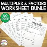 Multiples and Factors Bundle - 4.OA.4, 6.NS.4