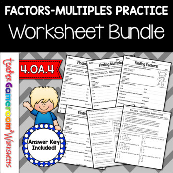 Multiples And Factors Bundle 4oa4 6ns4 By Teacher Gameroom