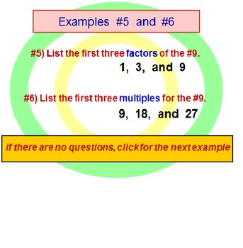 Factors and Multiples PowerPoint Lesson (Revised)