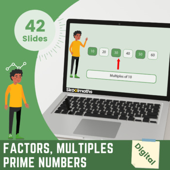 Factors, Multiples & Prime - 4th - 5th grades, (UK Year 5-6, Key stage 2)