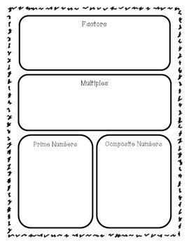 Factors, Multiples, Prime, & Composite