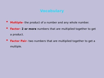 Factors, Multiples, Prime, Composite 4.OA.4