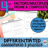 Factors, Multiples, Prime, Composite Differentiated Worksh