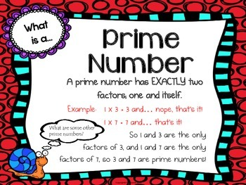 Factors, Multiples, Prime & Composite Numbers Anchor Charts