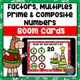 Factors, Multiples, Prime & Composite Numbers Christmas Bo