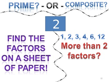 Factors, Multiples, Prime & Composite Numbers PowerPoint & Worksheets