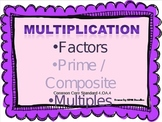 Factors, Multiples, Prime & Composite Numbers PowerPoint &