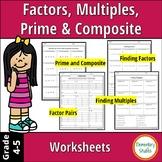 Factors, Multiples, Prime & Composite Numbers Worksheets