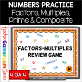 Factors, Multiples, Prime, Composite - PPT Game
