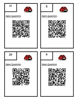 Factors, Multiples, Prime, Composite QR Code Scavenger Hunt - 4.OA.4