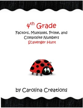 Factors, Multiples, Prime, Composite QR Code Scavenger Hun