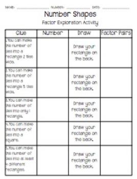 Factors, Multiples, Prime, Composite, & Square Numbers