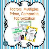 Factors, Multiples, Prime, Composite, and Factorization Bundle