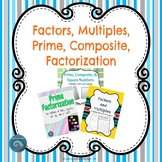 Factors, Multiples, Prime, Composite, and Factorization Bundle