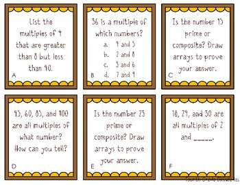 Factors, Multiples, Prime and Composite Activity Pack