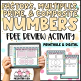 Factors Multiples Prime and Composite Number Review