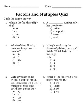 factors multiples prime and composite numbers quiz by jennie hopper. Black Bedroom Furniture Sets. Home Design Ideas
