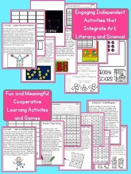 Factors, Multiples, Prime and Composites - Fourth Grade 4.OA.B.4 Activity Unit