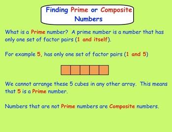 Factors, Multiples, Prime/Composite Numbers SMARTboard Lessons Gr. 3-4