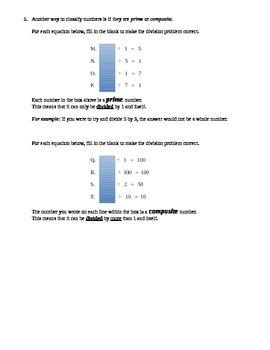 Factors, Multiples, Prime/Composite, Odd/Even Intervention