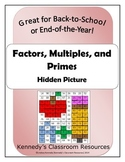 Factors, Multiples, Primes - Great for Back-to-School or E