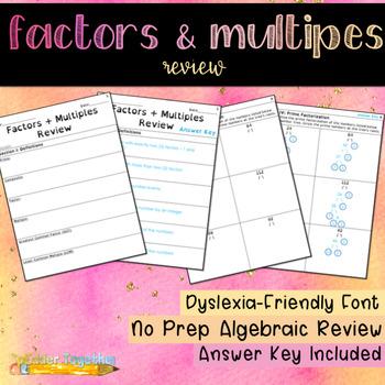 Factors & Multiples Review