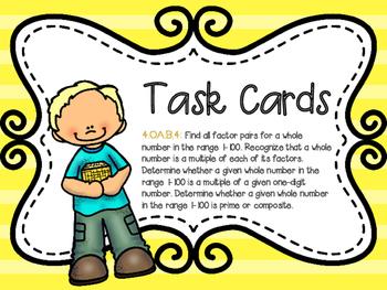 Factors & Multiples Task Card 4.OA.B.4