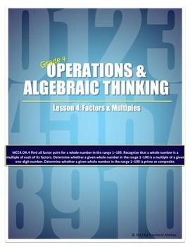 Factors & Multiples Teacher Lesson Plan & Student Worksheets