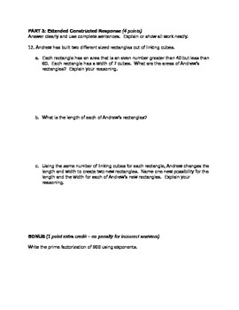 Factors & Multiples Unit Test