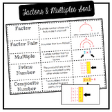 Factors & Multiples Vocabulary Sort