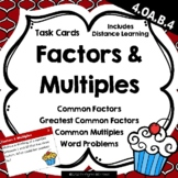 Factors & Multiples Word Problems {Math Task Cards}