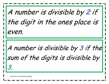 Math - Factors, Multiples, and Divisibility Rules Oh My!