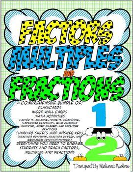 Factors, Multiples, and Fractions Bundle (Common Core Aligned)