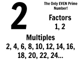 Factors, Multiples, and Prime/Composite Posters