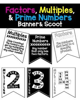 Factors, Multiples, and Prime Numbers Banner