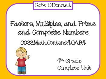 Factors, Multiples, and Prime and Composite Numbers: Commo