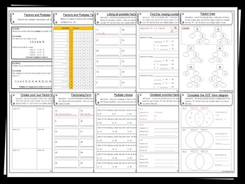Factors Pack - 25+ printables