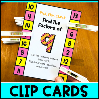 Factors Activity: Factors Pick, Flip Check Cards